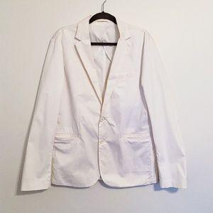 Armani Exchange White Blazer Jacket